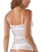 Cosabella Ceylon Long Camisole in White, Back View