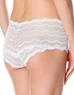 Cosabella Ceylon Lowrider Lace Hotpant in White, Back View