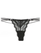 Cosabella Ceylon Lowrider Lace Thong in Black
