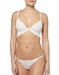 Cosabella Ceylon Lowrider Lace Thong in White with Matching Bralette