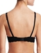 Cosabella Never Say Never Comfie Tee Contour Bra in Black, Back View