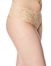 Cosabella Never Say Never 'Lovelie' Plus Size Thong in Blush, Side View