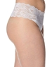 Cosabella Never Say Never 'Lovelie' Plus Size Thong in White, Side View