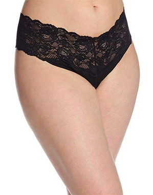 Cosabella Never Say Never 'Lovelie' Plus Size Thong in Black