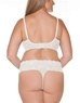 Cosabella Never Say Never 'Lovelie' Plus Size Thong and Bra in White, Back View