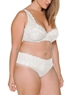 Cosabella Never Say Never 'Lovelie' Plus Size Thong and Bra in White