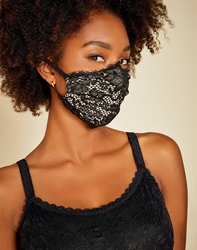 Cosabella Pret A Porter Pleated Face Mask in Black