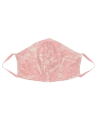 Cosabella's Savona V-Shaped Face Mask in Blush Blush