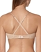 Cosabella Soire Molded Convertible Underwire Bra in Blush, Back View Criss Crossed