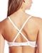 Cosabella Soire Molded Convertible Underwire Bra in White, Back View Criss Crossed