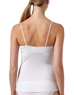 Cosabella Talco Long Camisole in White, Back View