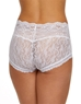 Hanky Panky American Beauty Rose Panty in White, Back View
