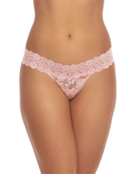 Hanky Panky Cross-Dyed Low Rise Thong in Rosita/Marshmallow