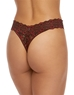Hanky Panky Cross-Dyed Original Rise Thong in Black/Red, Back View