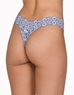 Hanky Panky Cross-Dyed Original Rise Thong in Chambray/Ivory, Back View