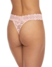 Hanky Panky Cross-Dyed Original Rise Thong in Rosita/Marshmallow, Back View