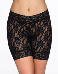 Hanky Panky Signature Lace Bike Short in Black