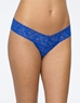 Hanky Panky Signature Low Rise Lace Thong in Sapphire