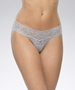 Hanky Panky Signature Low Rise Lace Thong in Steel