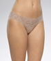 Hanky Panky Signature Low Rise Lace Thong in Taupe
