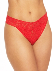 Hanky Panky Signature Lace Thong in Fiery Red