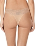 Natori Bliss 3-Pack Perfection Lace-Trim Thong in Cafe, Back View