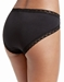 Natori Bliss French Cut Cotton Panty in Black, Back View