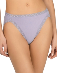 Natori Bliss French Cut Cotton Panty in Purple Rose