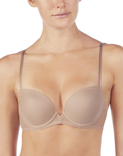 OnGossamer Next to Nothing Demi Plunge Bra in Mocha