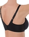Basic Beauty T-Shirt Spacer Underwire Bra in Black, Back View