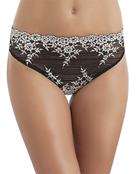 Embrace Lace™ Hi-Cut Brief in Black/Ivory
