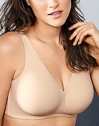 Wacoal How Perfect Full Figure Wire Free Bra in Sand