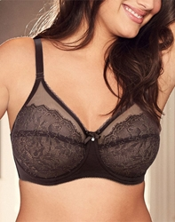 Retro Chic Underwire Bra in Chocolate Plum