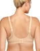 Wacoal Sport Contour Underwire Bra in White/Lilac Grey, Back View